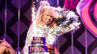 Download Britney Spears Gets a Fun 35th Birthday Surprise After Delivering a Sexy Performance - Watch! Video