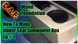 Download Under Seat Subwoofer Box Enclosure - Video 1 Wood Foundation Video