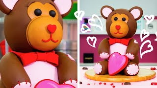 Download How To Make An Adorable TEDDY BEAR CAKE For Valentine's Day | Yolanda Gampp | How To Cake It Video