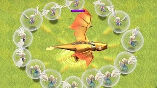 Download IMMORTAL ATTACK vs. DRAGON GOD!! ″Clash Of Clans″ THIS DRAGON WON'T DIE!!! Video