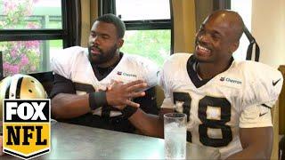 Download Adrian Peterson, Mark Ingram open up to Jay Glazer before 2017-18 NFL Season | FOX NFL Video