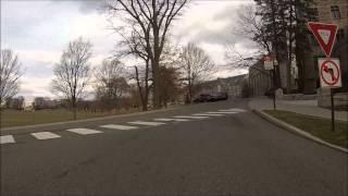 Download Driving through Downtown Blacksburg and Virginia Tech campus Video