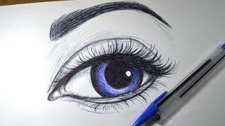Download Como desenhar Olho realista simples com Caneta Video