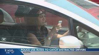 Download Bus hauling police around Austin seeking distracted drivers Video