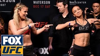 Download Paige VanZant and Michelle Waterson have a dance-off at their weigh-in | UFC ON FOX Video