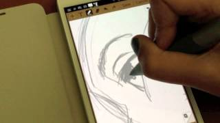 Download Samsung Galaxy Note and sketching on S Memo Video