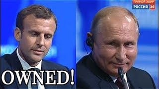 Download OWNED! Putin Owns Macron In Under One Minute - CHECKMATE! Video
