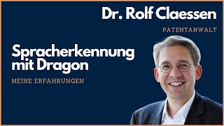 Download Spracherkennung mit Dragon NaturallySpeaking (Dragon Professional 14) als Patentanwalt #rolfclaessen Video