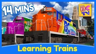 Download Learn the Alphabet, Colors, Shapes & Numbers | Learning Train Cartoons for Kids Video