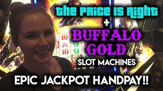 Download EPIC JACKPOT Handpay! Buffalo Gold!!! My Best Win EVER!!! Price is Right Showcase Wheel Bonus! Video