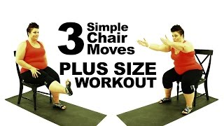 Download Plus Size Workout - 3 Chair Exercise Routine Modification Video