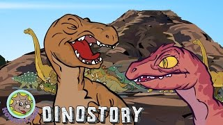 Download Dinosaurs are Drinking by the River - Dinosaur songs from Dinostory by Howdytoons S1E5 Video