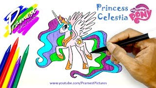 Download Putri Celestia | Cara Menggambar Dan Mewarnai Gambar Kuda Poni Untuk Anak Video