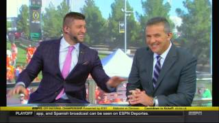 Download Tim Tebow and Urban Meyer reunite on College GameDay Video