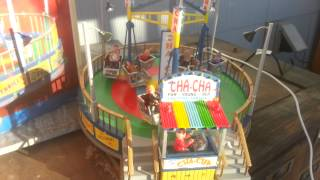Download RARE Retired Lemax Village Collection The Cha Cha Carnival Ride Sound Motion Video