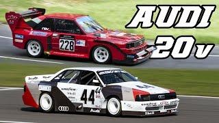 Download Audi 5-cylinder Quattro Turbo race & rallycars (Gr.B, Pikes Peak, Transam) Video