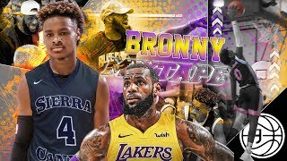 "Download FUTURE LAKER LeBron James Jr! Bronny ""Taking My Talents to LA"" OFFICIAL MIXTAPE! Video"