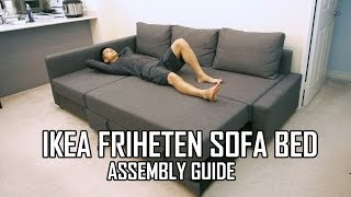 Download IKEA FRIHETEN Sofa Bed Assembly Guide Video