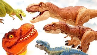 Download Lots Of Dinosaurs Toys. T-Rex Collection Jurassic World2 Fallen Kingdom Toys, Schleich Dinosaurs Video