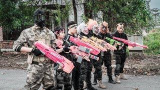 Download MASK Nerf War : Police Warrior Alpha Nerf Guns Fight Black Lightning Mask Video