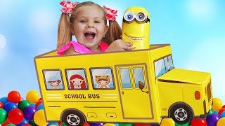 Download Diana plays with new toys and balls, Wheels on the Bus song Video