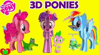 Download My Little Pony 3D Pony Pinkie Pie, Twilight Sparkle, and Rainbow Dash Video