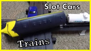 Download Slot Car and Train Set Life Like High Iron and Burnin Rubber - CRASHES! Video