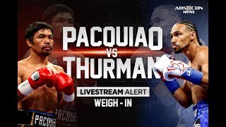 Download Pacquiao, Thurman weigh in ahead of face-off | July 20, 2019 Video
