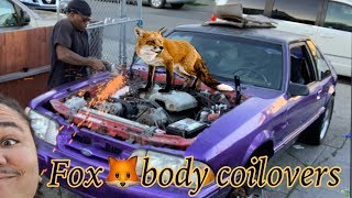 """Download Coilover install on Aaron's foxbody mustang """"uncensored"""" Video"""