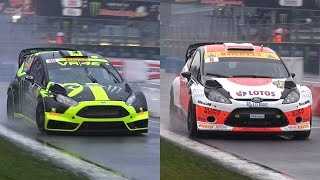 Download Valentino Rossi Vs. Robert Kubica - 2014 Monza Rally Master Show Video