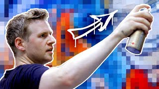 Download MY FIRST STREET ART!! - Aerosol Painting on a Big City Wall! Video