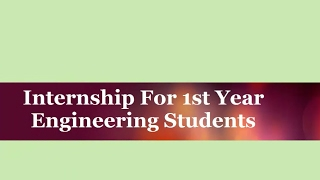 Download Internship For 1st Year Engineering Students | Call 1800 3000 5154 Video