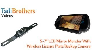 Download best Wireless License plate camera systems with rearview mirror monitors Video