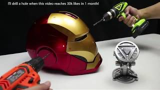 Download WOW! Amazing Iron Man fully automatic helmet and Arc Reactor Video