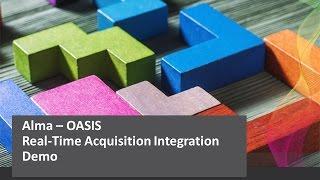 Download Alma Oasis Integration Short Demo Video