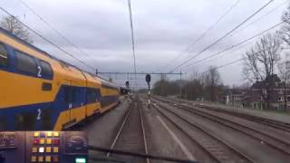 Download A train driver's view: Eindhoven - Maastricht, VIRM, 29-Mar-2017. Video