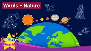 Download Kids vocabulary Theme ″Nature″ - Solar System, Geography, Zodiac Sign - Words Theme collection Video