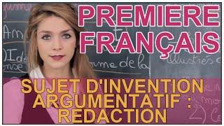 Download Sujet d'invention argumentatif - Rédaction - Français 1ère - Les Bons Profs Video