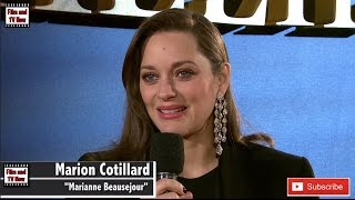 Download Marion Cotillard Talks About Working With Brad Pitt At Allied UK Premiere Video