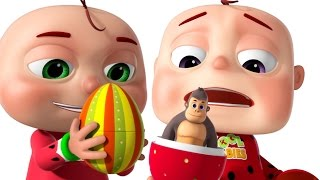 Download Five Little Babies Opening The Eggs | Five Little Babies Collection | Zool Babies Fun Rhymes Video