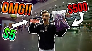 Download Trading a $5 Supreme Sticker to a $500 Bape Hoodie!! Video