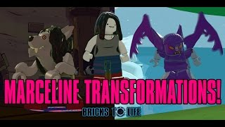 Download Marceline The Vampire Queen TRANSFORMATIONS! Flying Bat & Werewolf! - Lego Dimensions Adventure Time Video