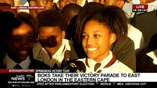 Download RWC Trophy tour   Update on the Boks' arrival in East London Video