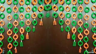 Download Best Out Of Waste||Woolen Door Hangings Using News Paper||Home Decor Ideas..! Video