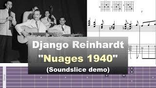 Download Django Reinhardt ″Nuages″ 1940 & Manhattan Transfer ″Clouds″ 1997 - Soundslice demo by Gilles Rea Video