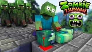 Download Monster School : ZOMBIE TSUNAMI CHALLENGE - PART 2 - Minecraft Animation Video