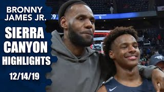 Download Bronny James leads Sierra Canyon to win in front of LeBron | Prep Highlights Video