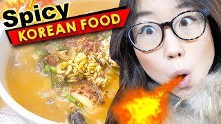 Download SPICY KOREAN FOOD at Traditional Korean Market Video
