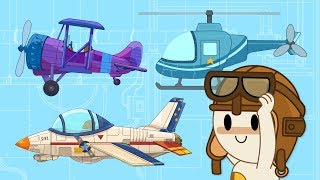 Download Let's Fly! | Helicopter and Airplanes at Finley's Factory | Cartoon For Kids Video