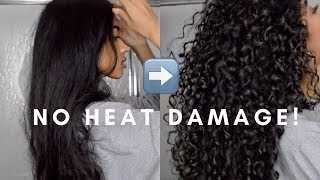 Download How to: Straight to Curly | NO HEAT DAMAGE! Video